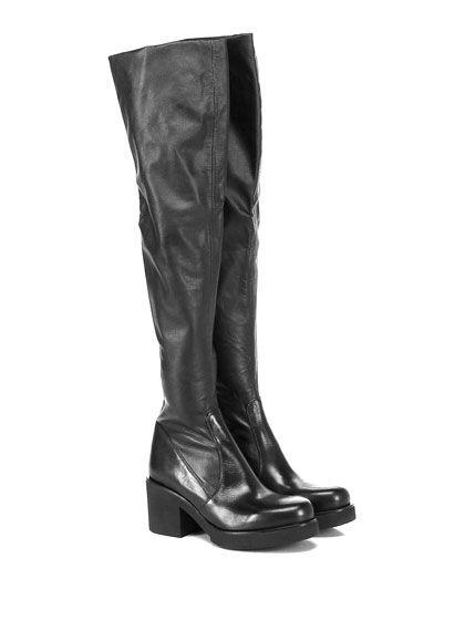 STRATEGIA - Stivali - Donna - Stivale in pelle ed eco pelle stretch con suola in…