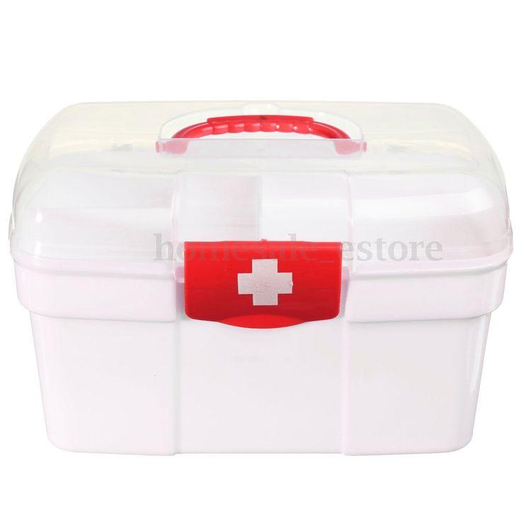 Family-Health-Medicine-Chest-Pill-Storage-2-Layer-Drug-Big-Case-Box-First-Aid