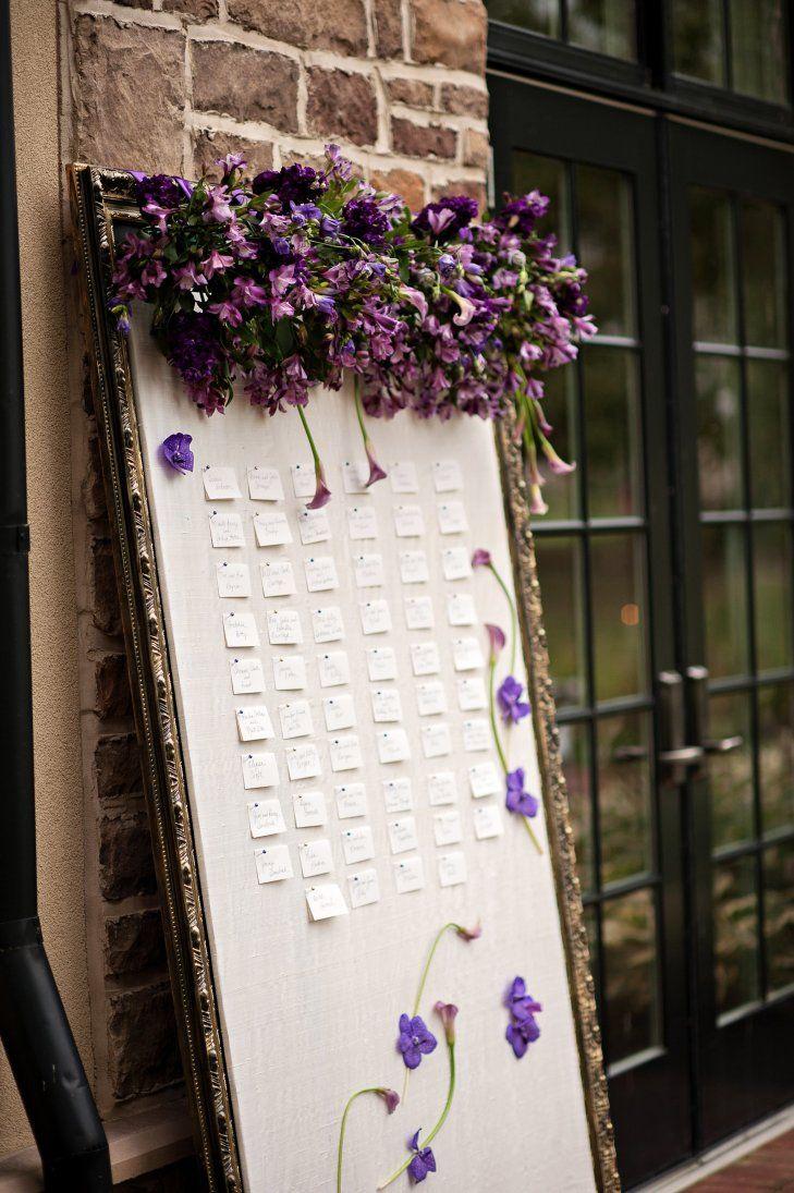 沢山の紫のお花♡ <パープル・ロマンチックな結婚式エスコートカード・席札まとめ一覧>