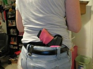 How to create an concealed carry wardrobe using an inside the waistband holster. #1 Purchase long camisoles, #2 long, loose shirt (but not necessary), #3 cover garment (can be cardigan, jacket, long/loose shrug). Conceal carry does not need to be difficult for women!