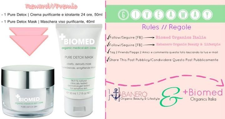Giveaway Habanero - Vinci Prodotti Biomed https://www.facebook.com/HabaneroBioBeautyeFashionStyle/photos/a.497144297088661.1073741836.496225763847181/692167560919666/?type=1