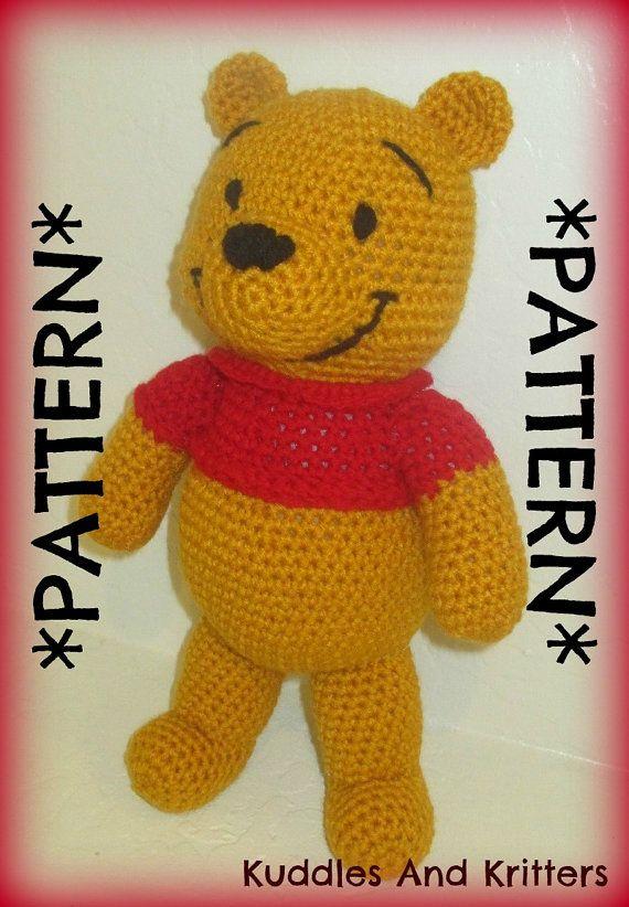 PATTERN ONLY  Crochet Winnie the Pooh by KuddlesAndKritters, $5.95