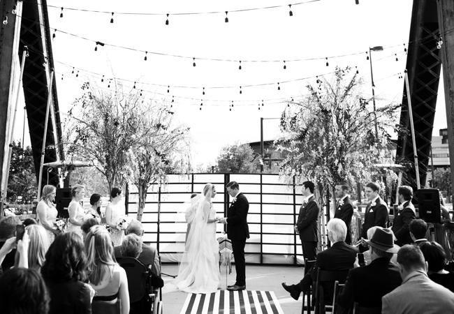 Denver Couple Marries On A Railroad Bridge At Coohill Restaurant — Wedding Photos! | TheKnot.com