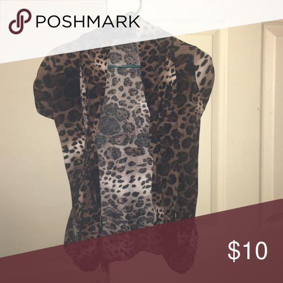Cheetah Cardigan Excellent condition Rue 21 Sweaters Cardigans
