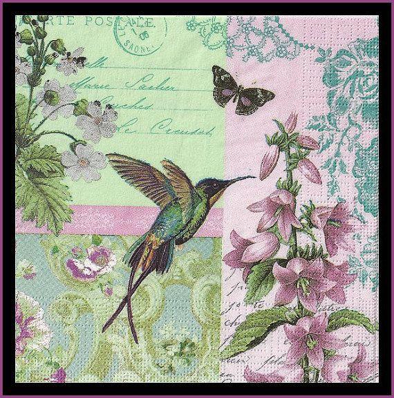 Hey, ho trovato questa fantastica inserzione di Etsy su https://www.etsy.com/it/listing/179037828/4-tovaglioli-uccelli-colibri-decoupage