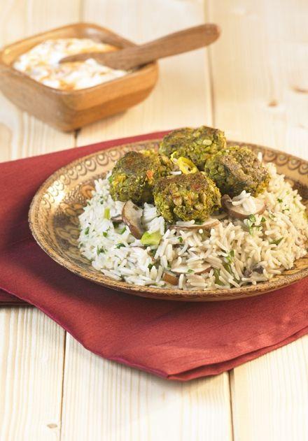 HECK Bollywood Bites & Lemon Mushroom Pilau Rice