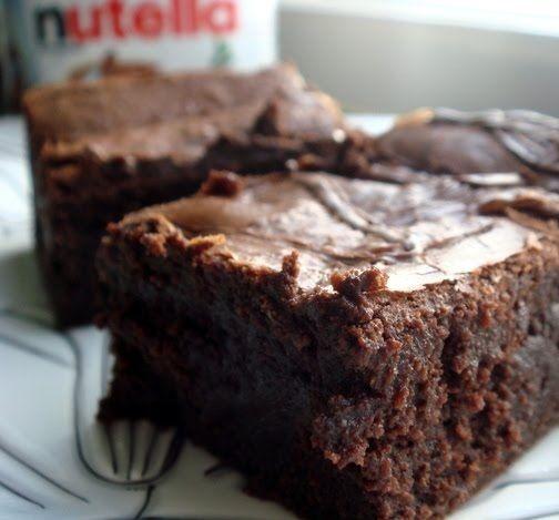 Receita de brownie de chocolate com nutella