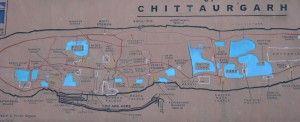 layout of Chittorgarh Fort, India