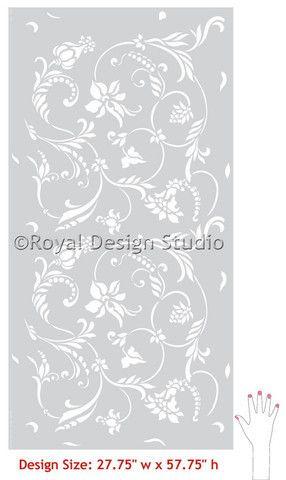 Flower Stencils | Flourish Allover Stencil | Royal Design Studio