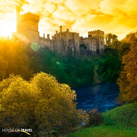 Ireland's Lismore Castle overlooks the beautiful blackwater river in County Waterford. For more UK & Europe travel inspiration, visit www.hot.co.nz