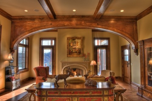 Interesting Ceiling Treatment Separating Hearth Room From Kitchen | Home  Ideas | Pinterest | Mantels, Room And Ceiling Treatments