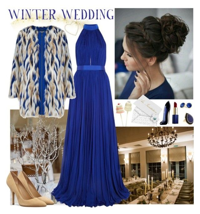 """""""Winter Wedding Guest Outfit"""" by whims-and-craze ❤ liked on Polyvore featuring Alexander McQueen, Ippolita, Marco Bicego, Estée Lauder and Carolina Herrera"""
