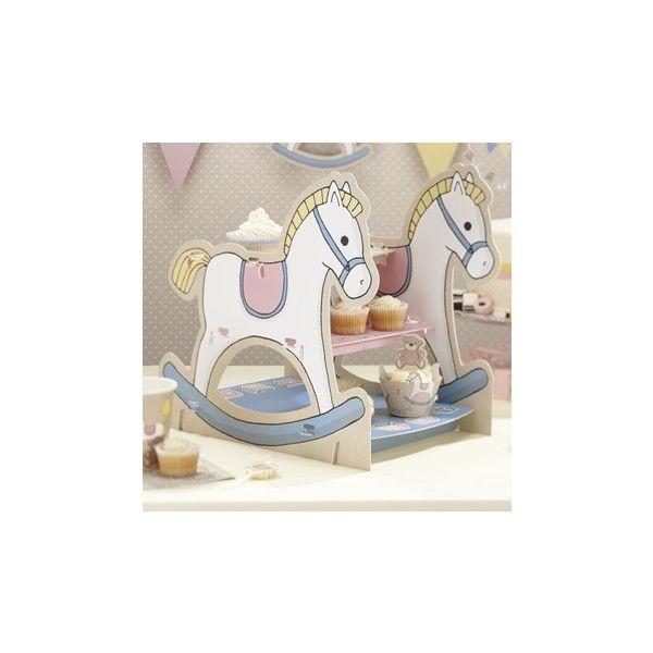 Simpatico e pratico stand per esporre i vostri cupcake con 3 basi.   Semplice da assemblare decorerà in modo unico la vostra tavola.     Misure 9.8 x 13.5 x 14.2 cm
