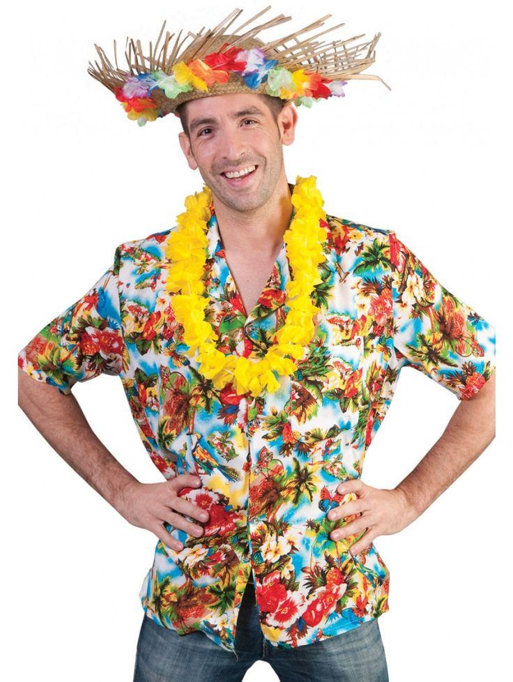 CAMICIA HAWAIANA DA UOMO TAGLIA L Aloha! La serata sta per cominciare...indossa un mix di fiori, colori e frutti tropicali! #festeinpiaggia