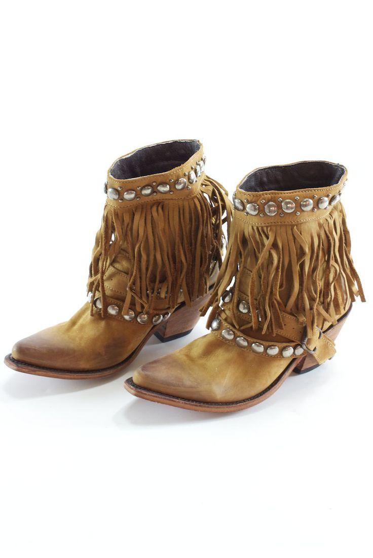 Liberty black short fringe boots 290 absolutely love