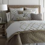 Ropa de cama - Ropa de cama Alhambra - Neiman Marcus - algodón y ropa de cama de terciopelo, moca ropa de cama, cubierta del edredón geométrico, ropa de cama enrejado,