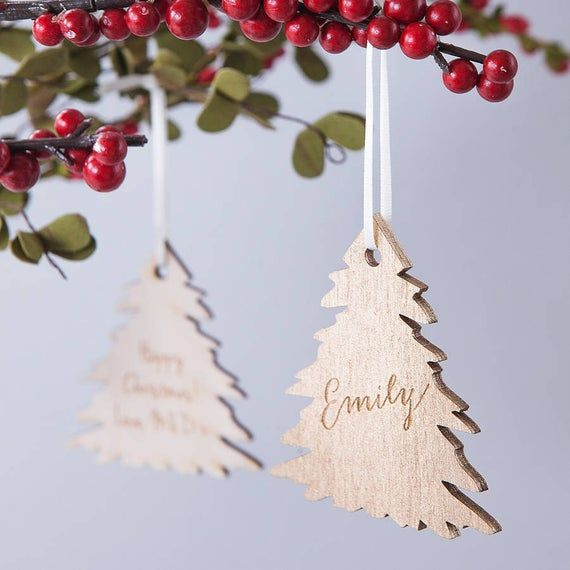 set of 5 Christmas Angels ornaments wooden Angels ornaments customized ornaments Xmas tree decorations Personalized Christmas Angel gift