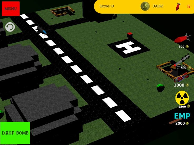 Inspiration Minecraft airfield in Blocky Bomb. Play now this total destruction game.# gamedev, # android, # game, # unity 3d, # first game.