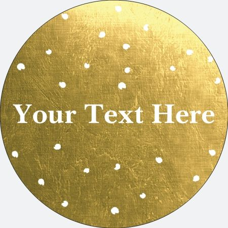 Why You'll Love Gold Metallic Large Stickers - Circle