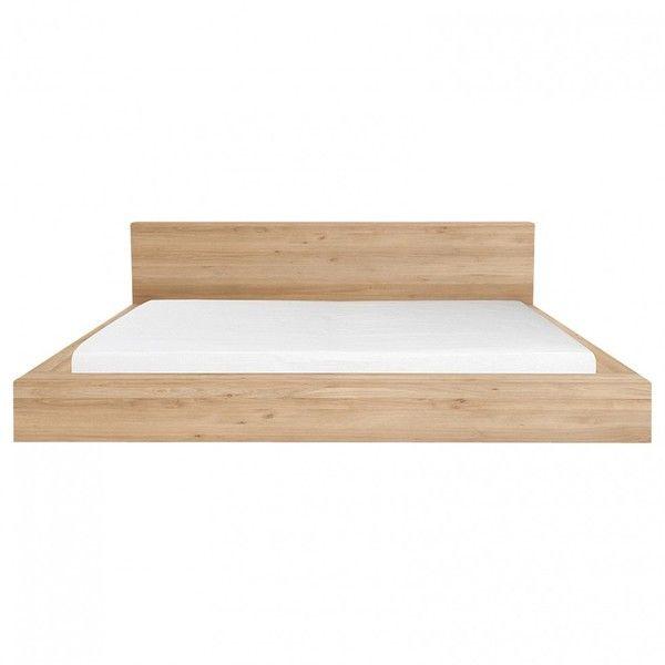 Oak Madra King Bed found on Polyvore featuring home, furniture, beds, oak bed, oak furniture, oakwood furniture и oak wood furniture