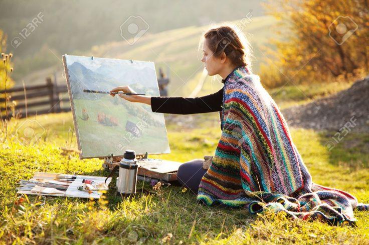 artist painting landscape - Google Search
