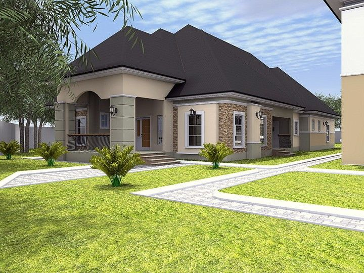 Construction Of 5 Bedroom Duplex And A 4 Bedroom Bungalow In Imo State Properties N Beautiful House Plans Bungalow Floor Plans Craftsman Style House Plans