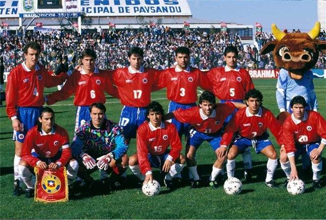 Margas, Guevara , Parraguez, Vilches, Miguel Ramirez;  Mendoza, Marcelo Ramirez, Estay, Basay, Valencia, Salas.
