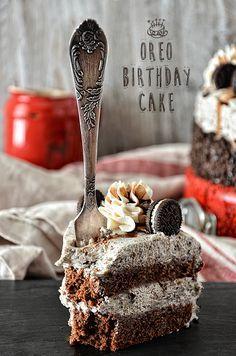 """Шоколадный торт с печеньем """"Орео"""""""