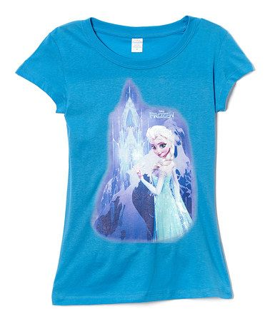 Loving this Blue Elsa Frozen Tee - Juniors on #zulily! #zulilyfinds