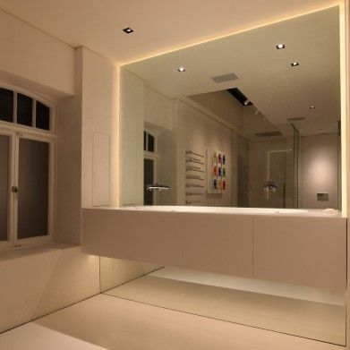 1000 ideas about led mirror lights on pinterest mirror for Bathroom strip light