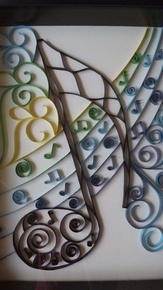 Musical Notes Quilled Art