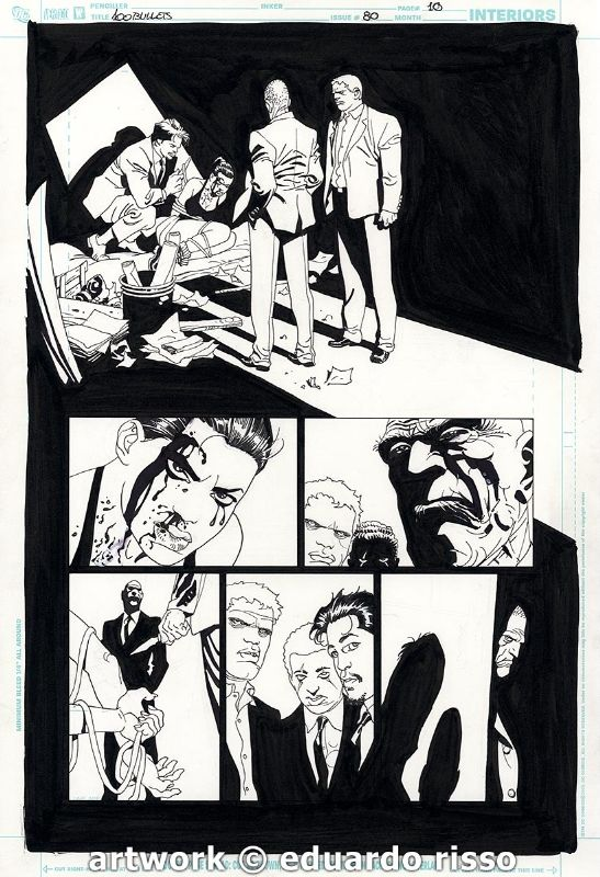 Eduardo Risso - 100 Bullets #80 pg10 Comic Art
