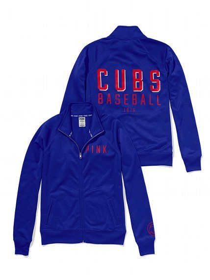 PINK Chicago Cubs Track Jacket #VictoriasSecret http://www.victoriassecret.com/pink/chicago-cubs/chicago-cubs-track-jacket-pink?ProductID=109108=OLS?cm_mmc=pinterest-_-product-_-x-_-x