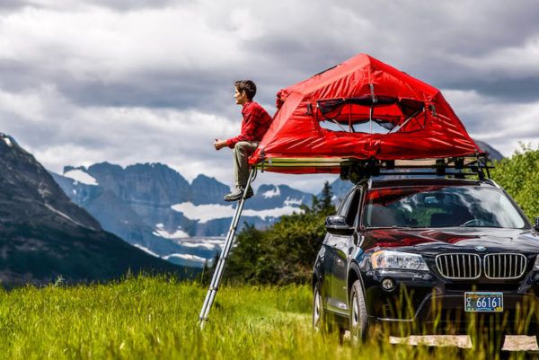Yakima SkyRise raises the roof on car-top tent camping, gets shady for tailgating