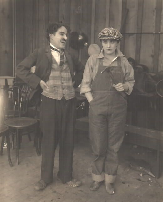 Charlie Chaplin and Edna Purviance