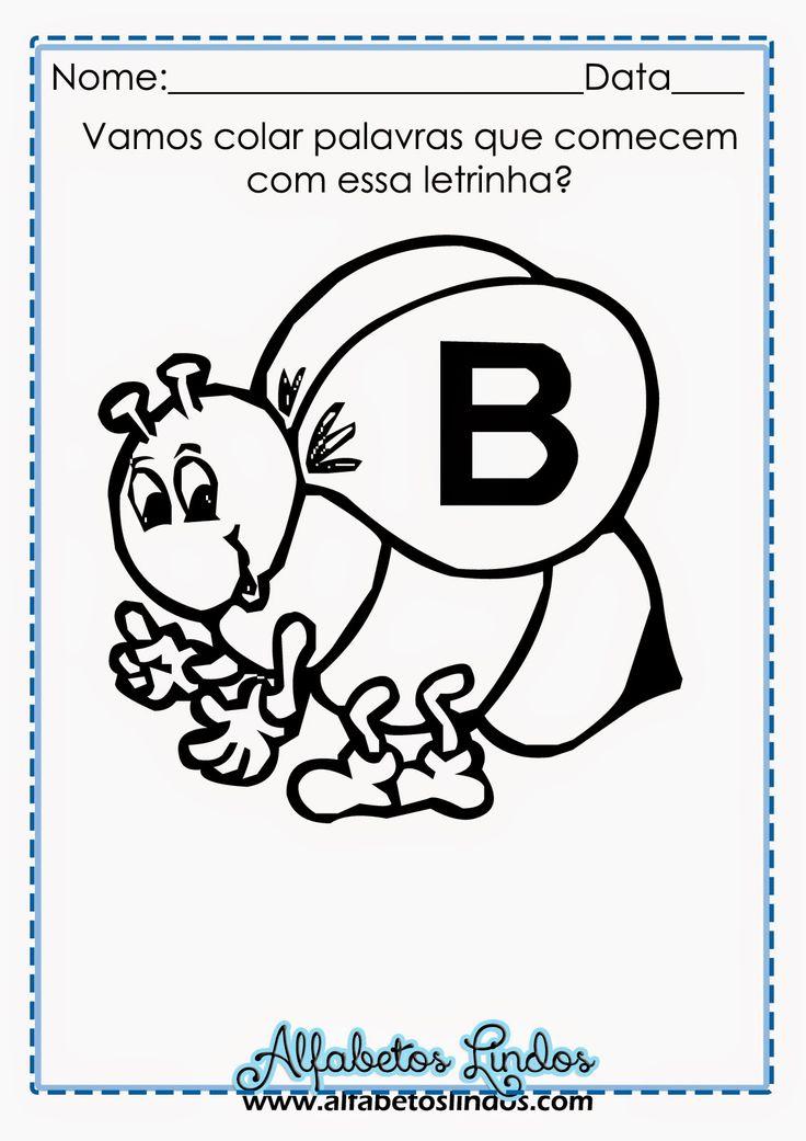 ALFABETOS LINDOS: Atividade alfabeto de abelhas para alfabetização - abelhinhas alfabeto de colorir, pintar, imprimir grátis!