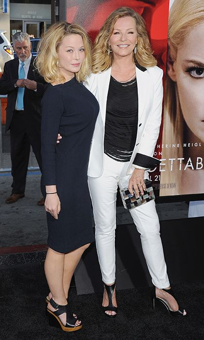 It was a case of mother-daughter style in black and white for Cheryl Ladd and daughter Jordan Ladd at the Los Angeles premiere of 'Unforgettable' in Hollywood.