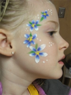 96 best flower face paint designs images on Pinterest ...