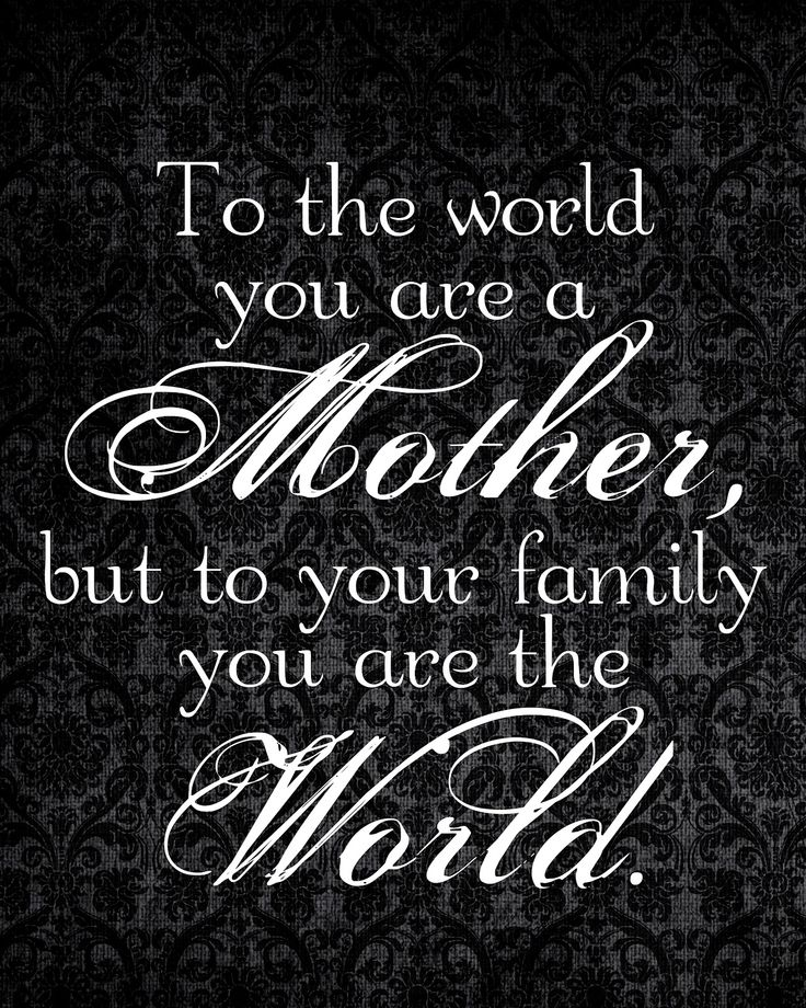 Beautiful quote about motherhood. Set the example for your children so that they may hold to the truth always. :)