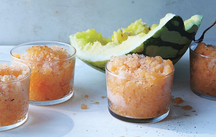 Cantaloupe and Black Pepper Granita Recipe - Bon Appétit  Someone please make this for me!