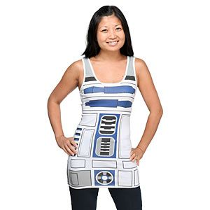 I Am R2-D2 Ladies' Tunic Tank  I WANT THIS!!!