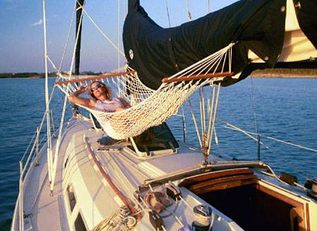 Sailboat Hammock in use