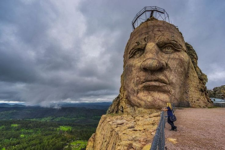 Mount Rushmore and the Crazy Horse Memorial are two of the most iconic monuments of the United States and are located in the Black Hills of South Dakota.