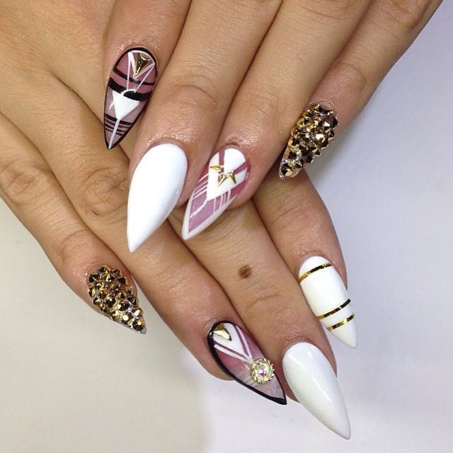 30 Funky And Trendy Nail Art Designs For 2014: 77 Best Baddie Nails Images On Pinterest