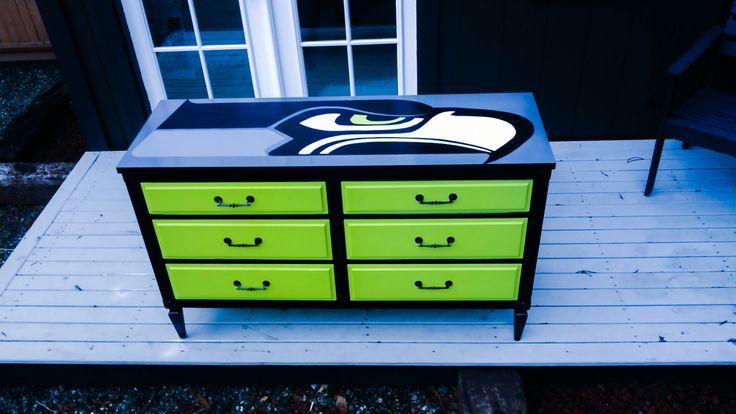 Seattle Seahawks lowboy dresser