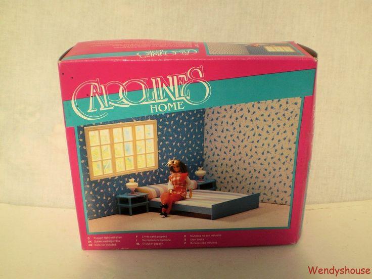 VINTAGE CAROLINES HOME DOLLS HOUSE BOXED BEDROOM FURNITURE - FREE P & P | eBay