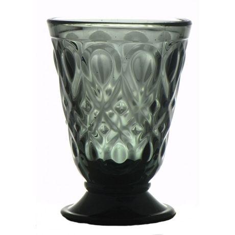 Szklanka Lyon szara. Niezwykłej urody szklanka francuskiej firmy La Rochere, najstarszej francuskiej huty szkła.