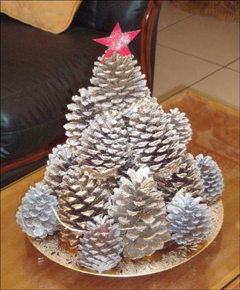 Pinecone Christmas Tree Decoration craft for kids