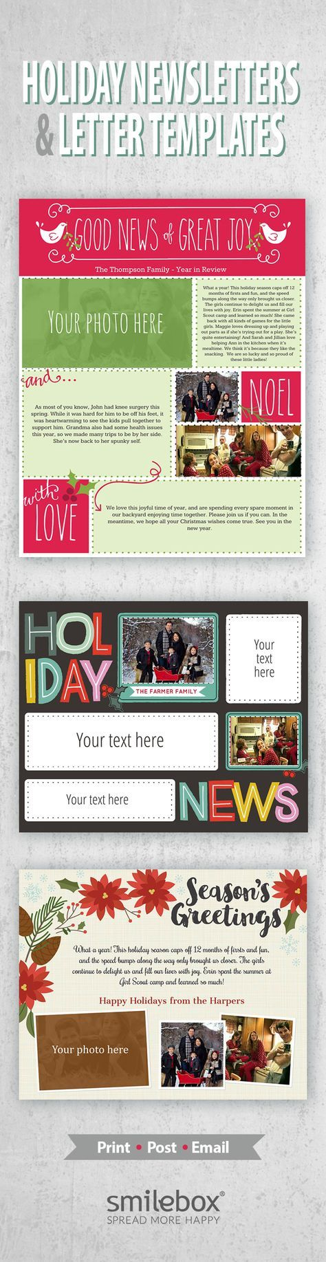 holiday newsletters