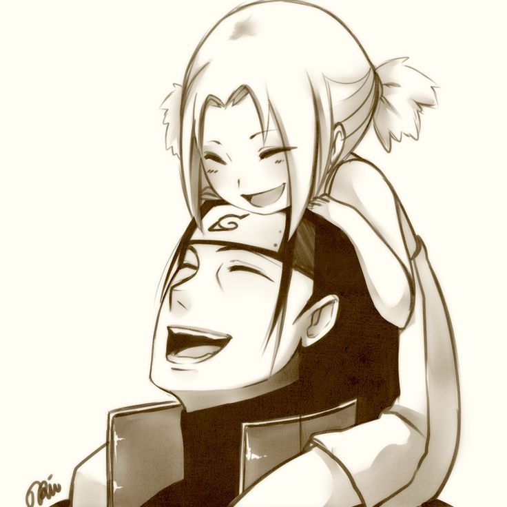 Senju Hashirama and Tsunade, so cute!